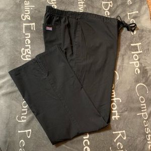 2 pair of women's black scrub pants size large